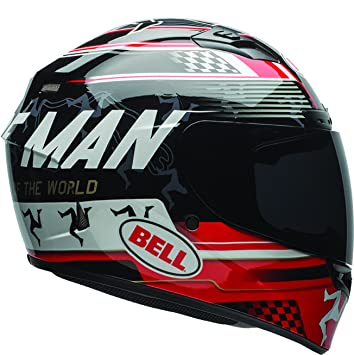 Bell Casco Qualifier DLX Isle of Man Black/Red, tamaño L