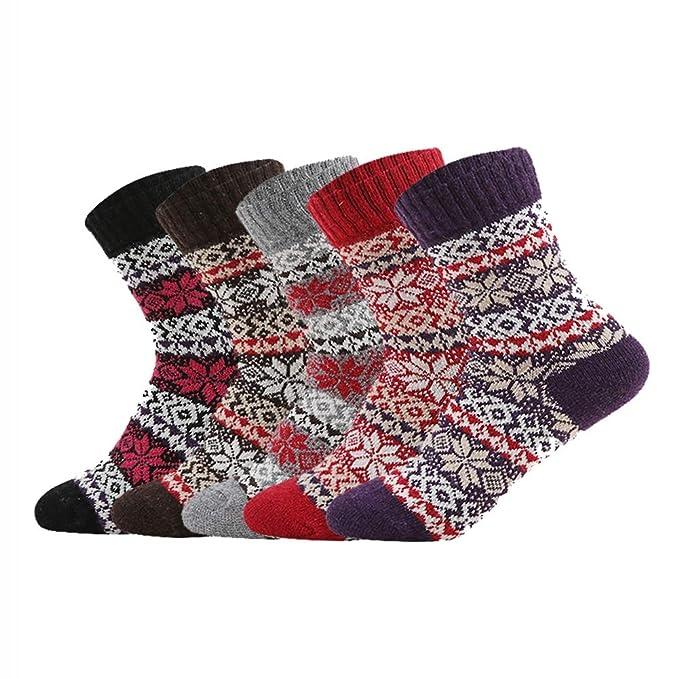 Men's Socks 5 Pairs Mens Wool Cashmere Design Warm Soft Thick Casual Dress Winter Socks