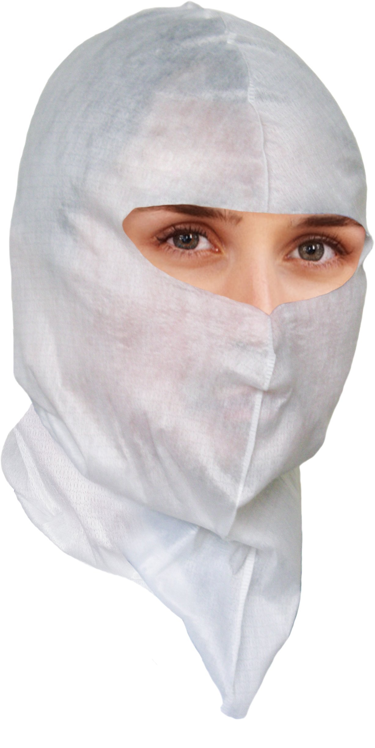 Soft-Stretch Disposable Hood, Headcover for Cleanroom or Healthcare Workers (more coverage than wearing a bouffant cap, a mask and a beard cover), $0.46 Ea, 200 Per Pack