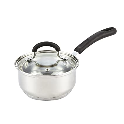 amazoncom cook n home stainless steel cookware 3 quart sauce pot with lid kitchen u0026 dining