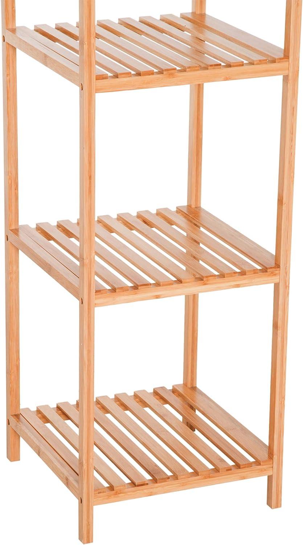 HOMCOM Estantería de Bambú 5 Niveles Estantería Almacenaje para ...