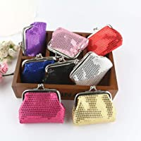 Sequin Kids Mini Coin Purses Zero Wallet Child Girl Women Change Purse Lady Zero Wallets Coin Bag - Random
