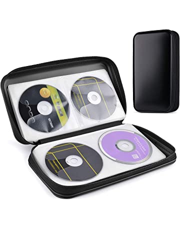 Tinksky 80 pcs DVD Almacenamiento rígida de plástico Protectora Carcasas para CD portátil