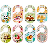 Baby Closet Dividers for Baby Clothes,Set of 8 Double Side Baby Closet Size Dividers Special Closet Organizer/Hangers…