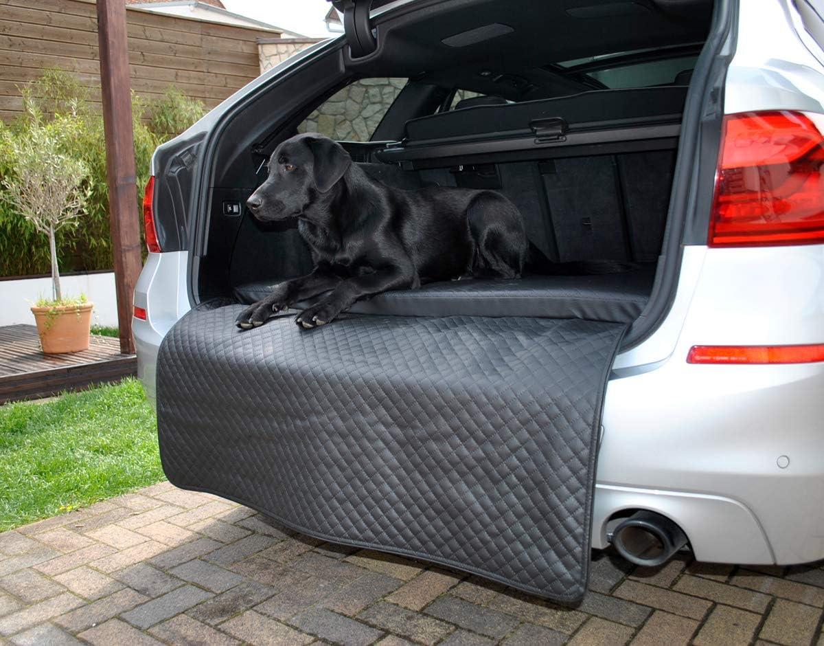 Mayaadi Home Hundebett Kofferraum Matte Luca Autoschondecke Kunst Leder Autositz Schutzdecke Schwarz L 100x90x5x60cm Haustier