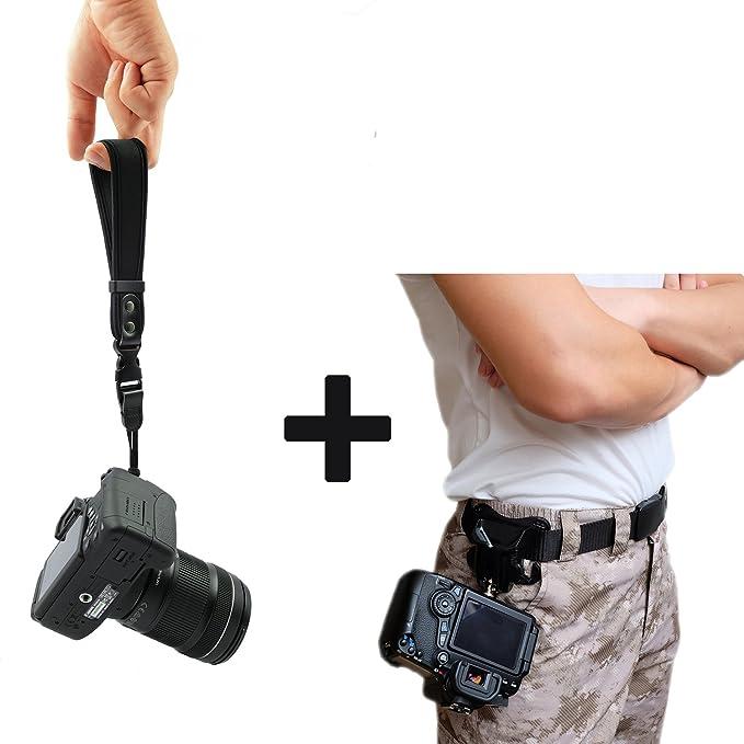 4 opinioni per WITHLIN fotografia Kit- vita cintura fibbia pulsante + cinturino da polso per