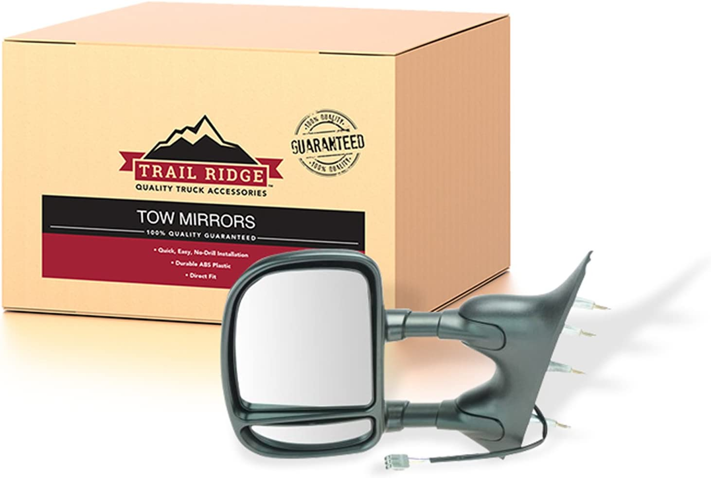 Manual Side View Mirror Driver Left LH NEW for 94-06 Ford Econoline Van