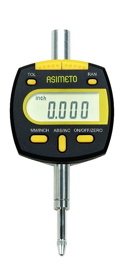 Reloj comparador digital, rango de medición 0 – 25 mm, lectura: 0,