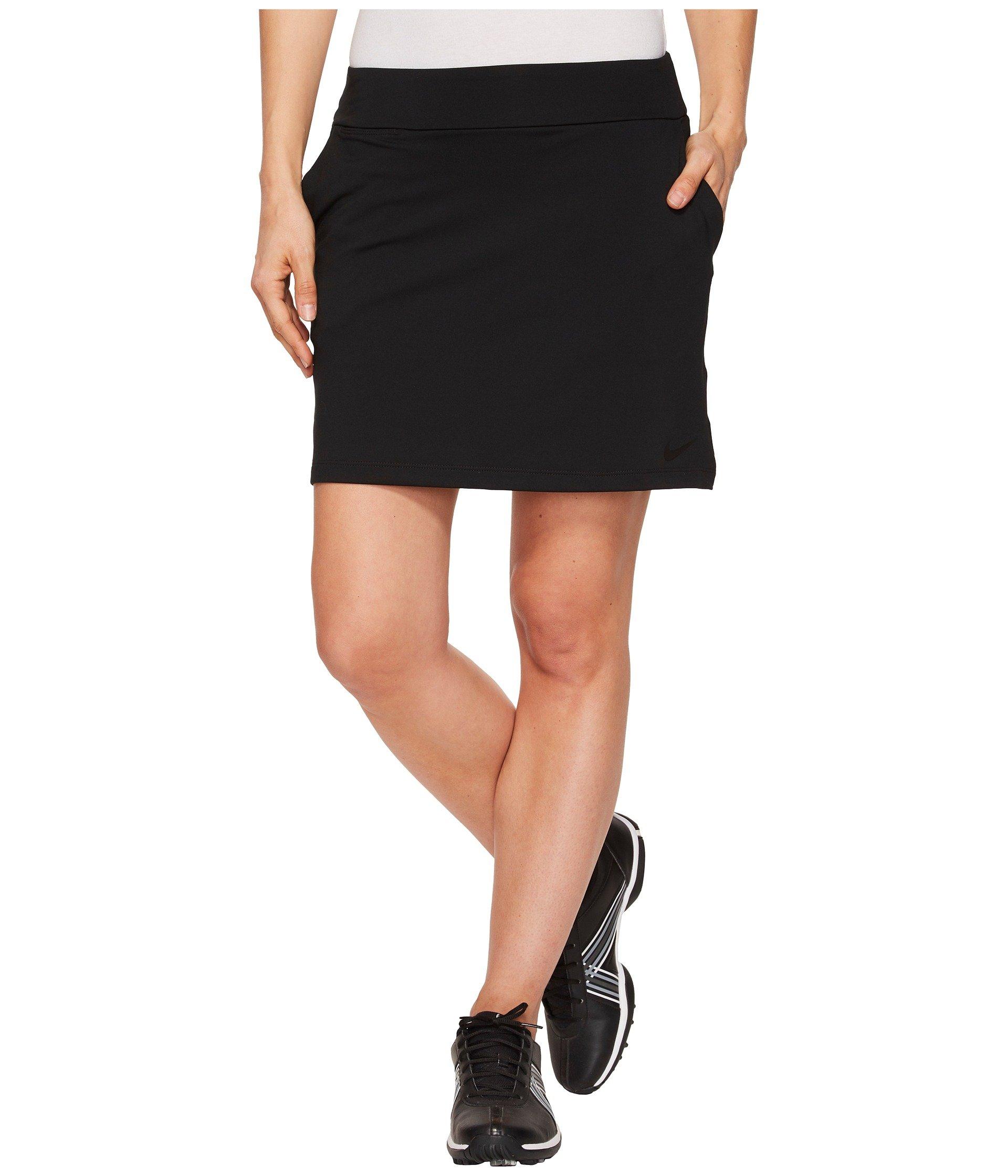 NIKE Women's Dry Golf Skort, Black/Black, Large by Nike