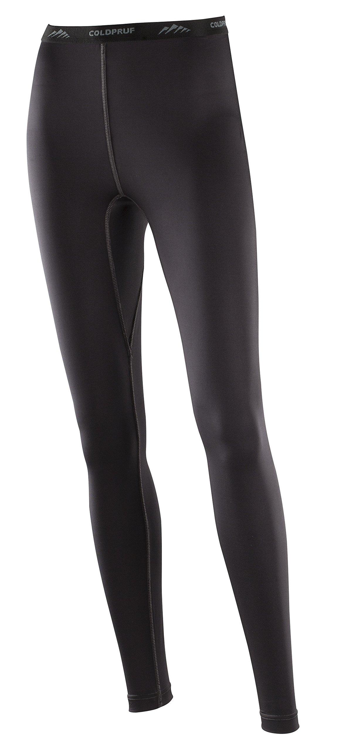 ColdPruf Women's Premium Performance Single Layer Bottom, Black, Small