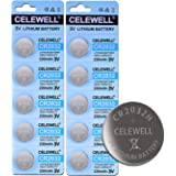 10 Pack CELEWELL CR2032 Battery CR2032H 230mAh 3 Volt Lithium Battery Coin Button Cell 3 Years Warranty