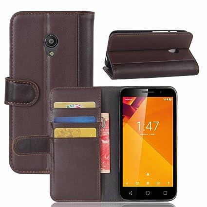 AICEDA Vodafone Smart Turbo 7 Case, [Portable Wallet ] [ Slim Fit ] Heavy