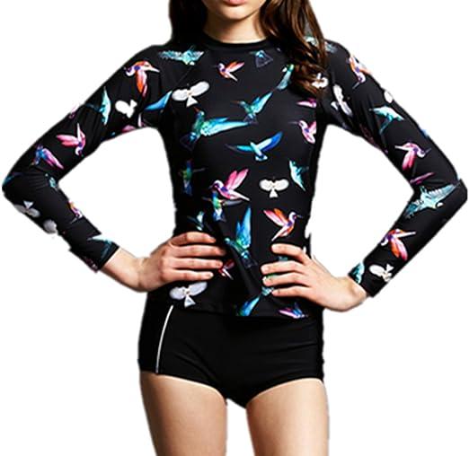 YEZIJIN Rash Guard Long Sleeve Zip UV Protection Surfing Swimsuit Swimwear Bathing Suit 2019 New Best