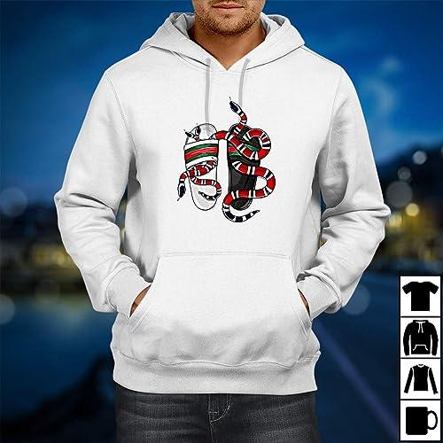 08b7005b Amazon.com: Gucci snack Shirt, Gucci T-shirt, Gucci Inspired T-shirt, Cucci  T-shirt Gucci Vintage Hypebeast Designer Gucci Belt Logo Shirt Hoodie  White: ...