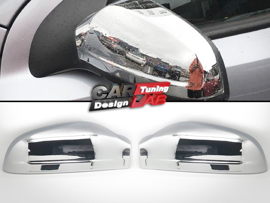 (2) Chrome Side Wing Overlay Mirror Cover For 2004-2009 Astra CarLab