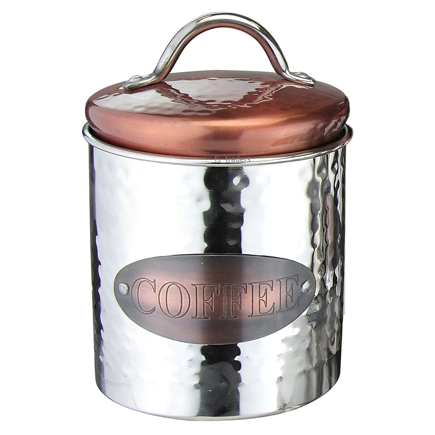 vintage copper tea coffee sugar pasta biscuits storage jars
