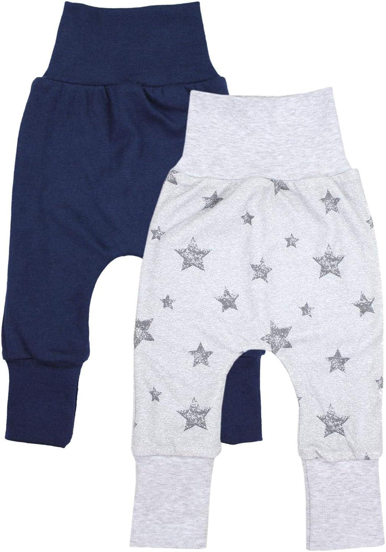 TupTam Baby Jungen Hose Jogginghose mit Breitem Bund 3er Pack