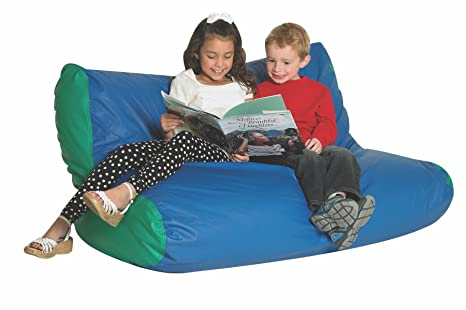 Strange Childrens Factor School Age Double High Back Lounger Kid Inzonedesignstudio Interior Chair Design Inzonedesignstudiocom