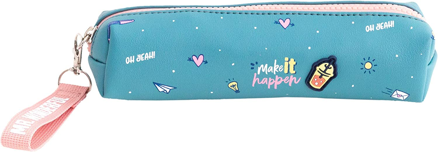 Mr. Wonderful Pencil Case-Make it Happen, Multicolor, Talla única: Amazon.es: Hogar