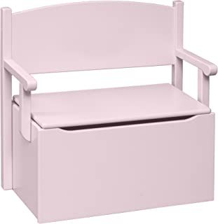 product image for Little Colorado Bench Toy Box-Soft Pink-Heart