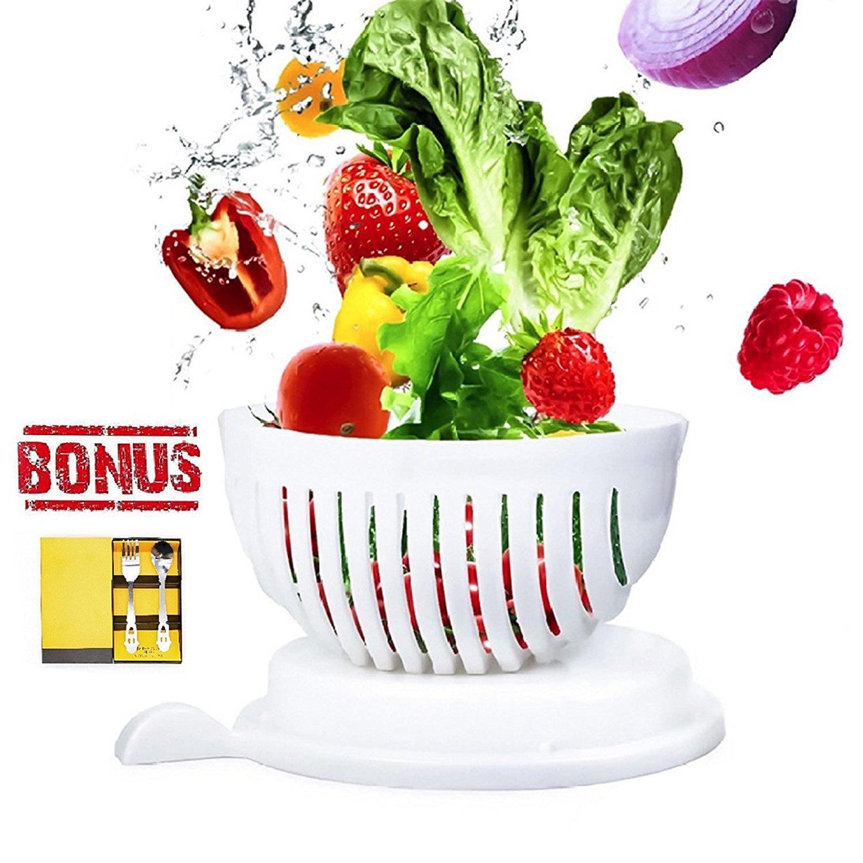 Amazon.com | Salad Cutter Bowl, 60 Second Salad Maker, Salad Chopper ...