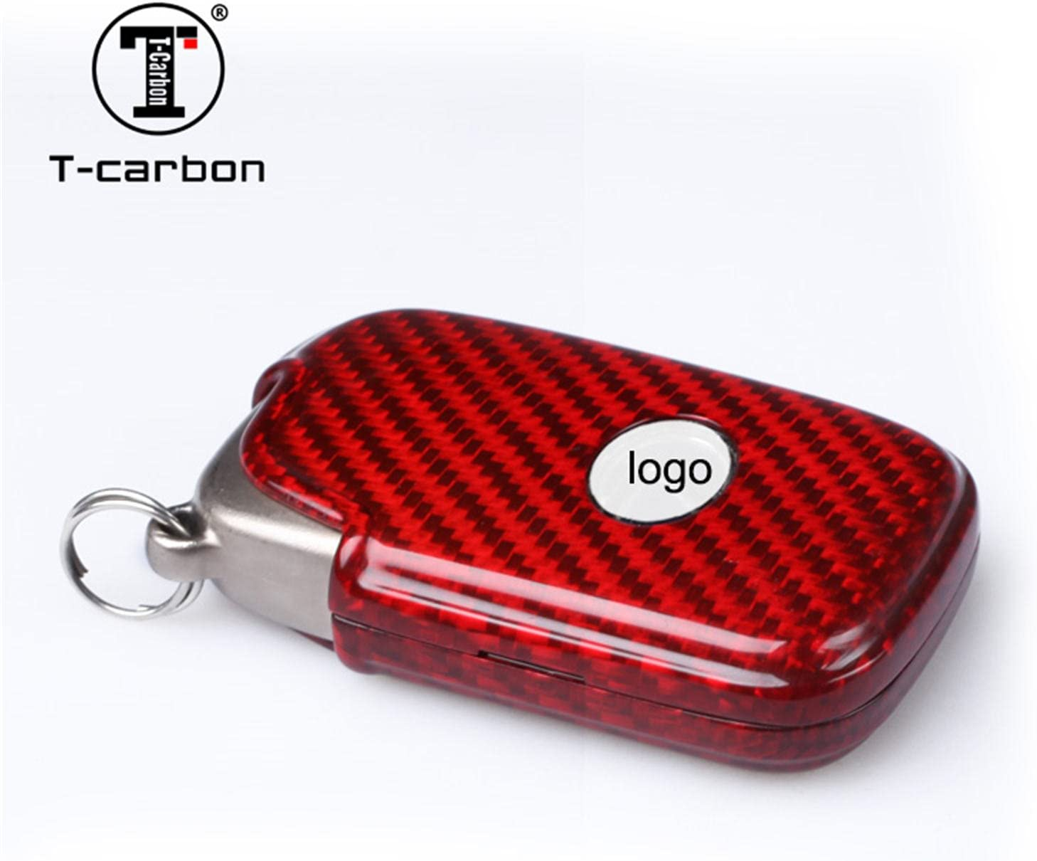 Red Light Weight Glossy Finish Key Fob Protection Case Carbon Fiber Key Fob Cover for Lexus Key Fob Remote Key Fits Lexus GX Lexus CT Lexus SC Lexus LS Smart Keyless Start Stop Engine Car Key