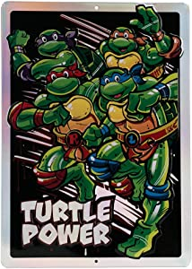 Open Road Brands Teenage Mutant Ninja Turtles Tin Metal Wall Art Sign - an Officially Licensed Product Great Addition to Add What You Love to Your Home/Garage Decor