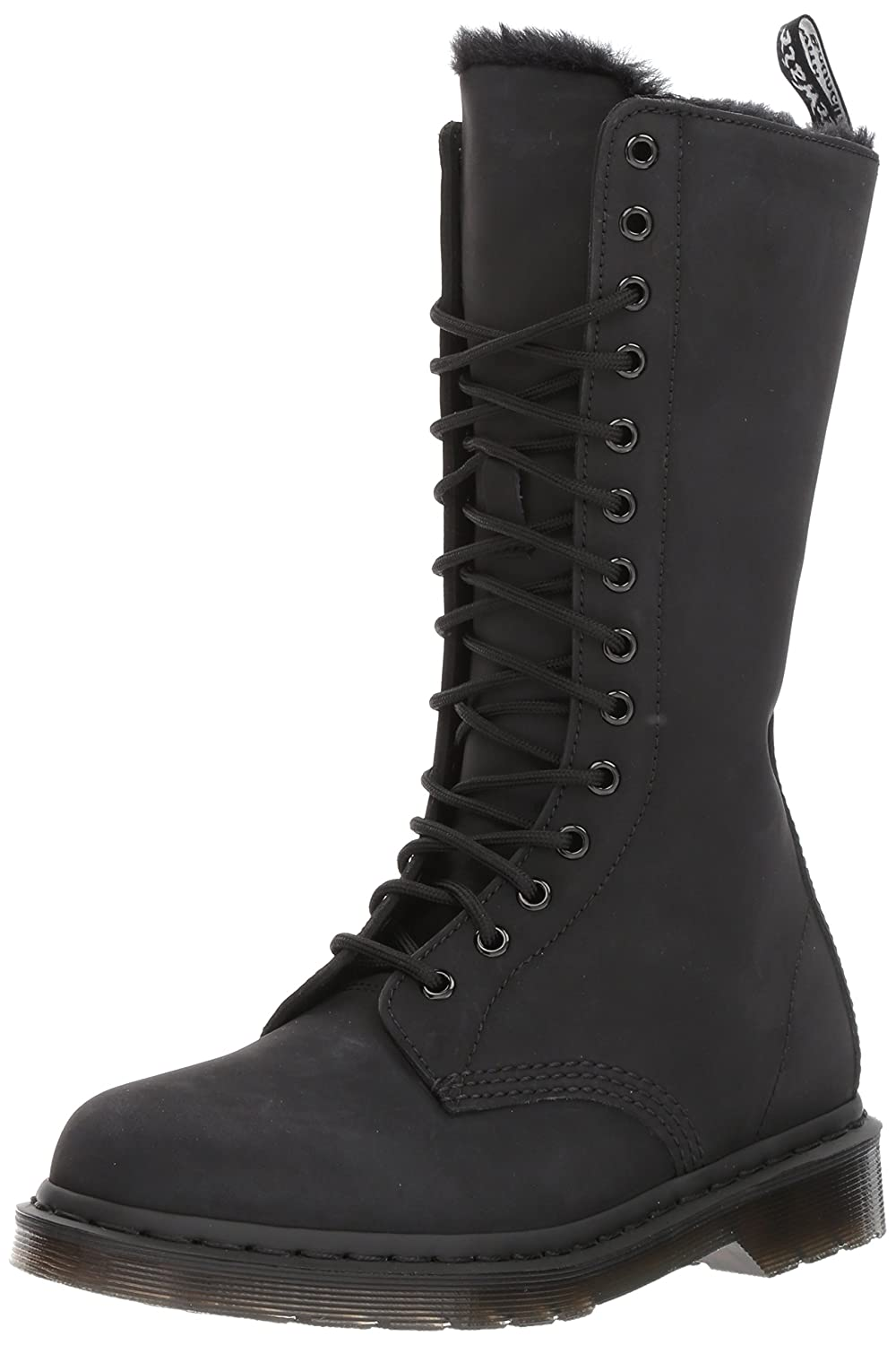 Dr. Martens Women's 1B99 FL Fashion Boot B01MZ4GIQC 8 Medium UK (10 US)|Black Cascade Split