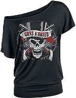 Guns N' Roses Top Hat Skull Camiseta Mujer Negro L