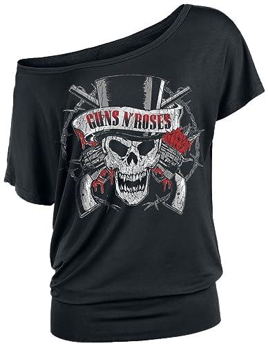 Guns N' Roses Top Hat Skull Maglia Donna Nero
