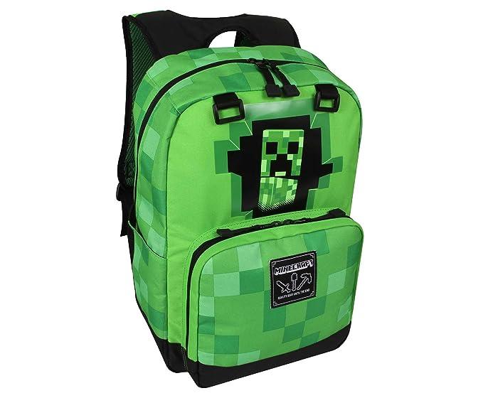 Minecraft Creeper Inside Backpack  Amazon.com.au  Fashion 4d5654bd60747