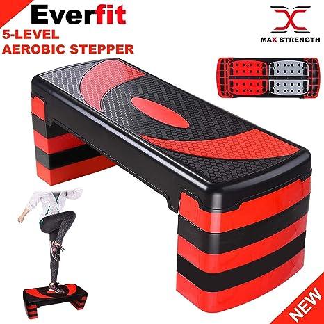 Max Strength aeróbico Stepper Cardio Fitness Step Board-5 Niveles ...