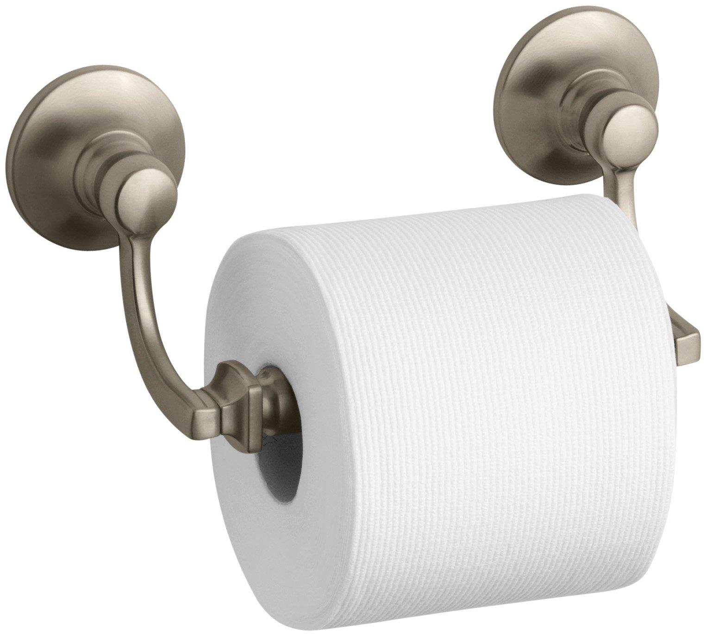 Kohler K-11415-BV Bancroft Toilet Tissue Holder, Vibrant Brushed Bronze