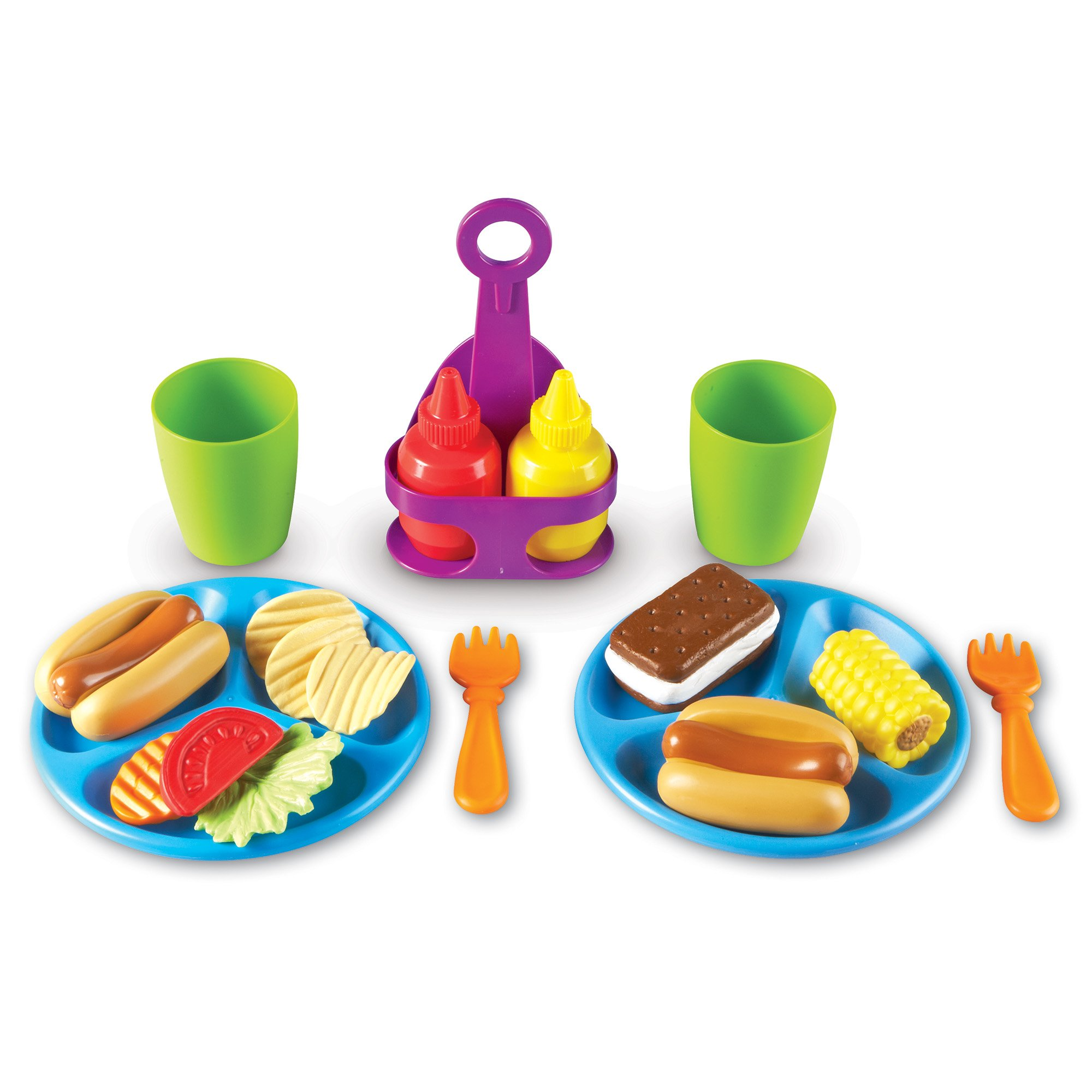 Learning Resources New Sprouts Cookout! Food, 19Piece by Learning Resources