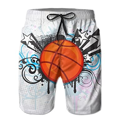 aa80ac6158 Tydo Abstract Sports Painting Men's Beach Shorts Loose Swim Trunks Surf  Board Pants With Pockets For Men | Amazon.com