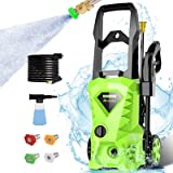 Homdox 2500PSI Electric Pressure Washer 1.6GPM Power Washer High Pressure Cleaner Machine with 4 Nozzles Foam Cannon,Best for