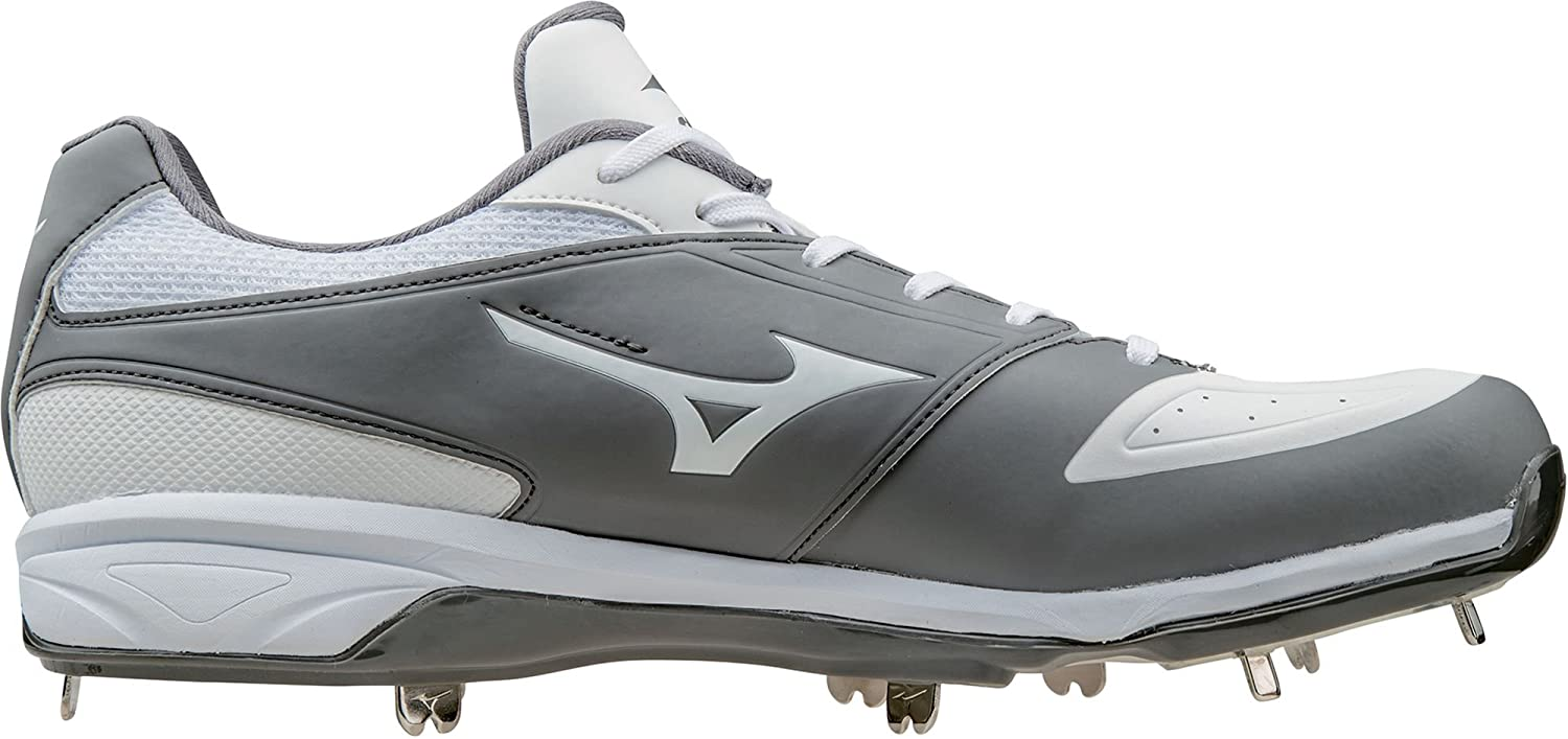 ミズノ スポーツ 野球 シューズ MIZUNO Men's Dominant IC Metal Baseball GreyWhite [並行輸入品] B07315PVSQ 9