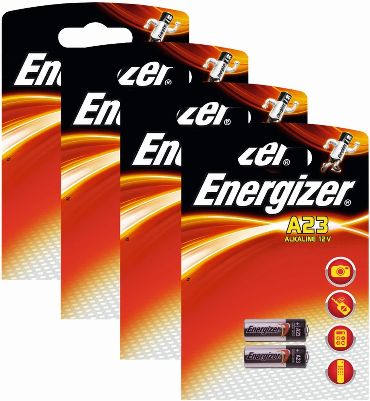Energizer 629564SET - Paquete de Pilas alcalinas A23 (12 V, 4 Paquetes x 2 Unidades)