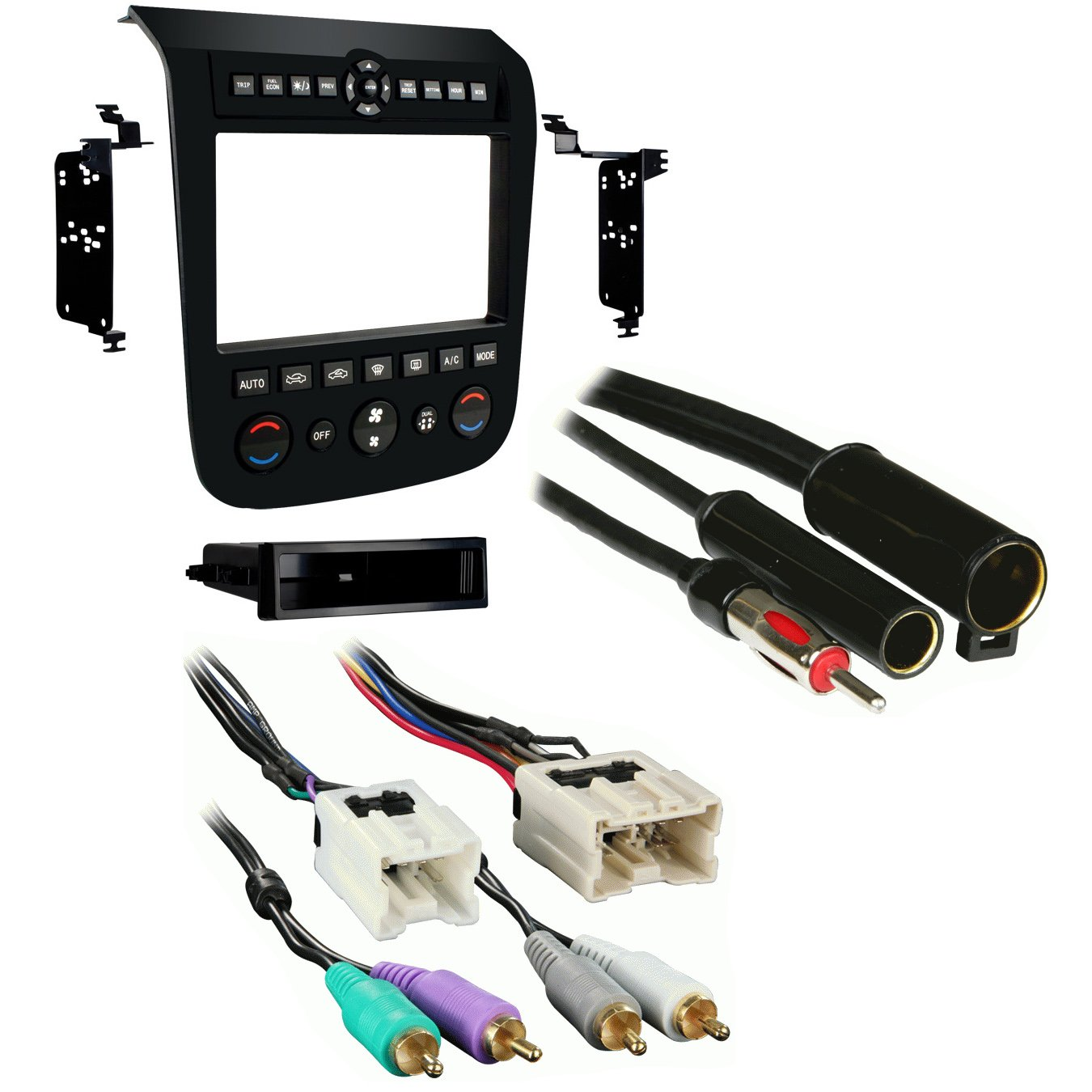 amazon com metra 99 7612b single double din stereo installation Nissan Aftermarket Stereo Wiring Harness 2002  2007 Ford F-150 Wiring Harness 1998 Nissan Maxima Wiring Harness 2007 nissan murano trailer wiring harness