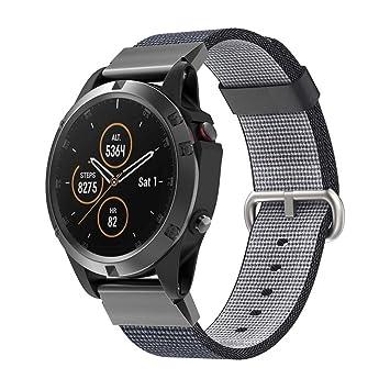 Crewell - Correa de Reloj de Repuesto para Garmin Fenix 5 Plus Smartwatch