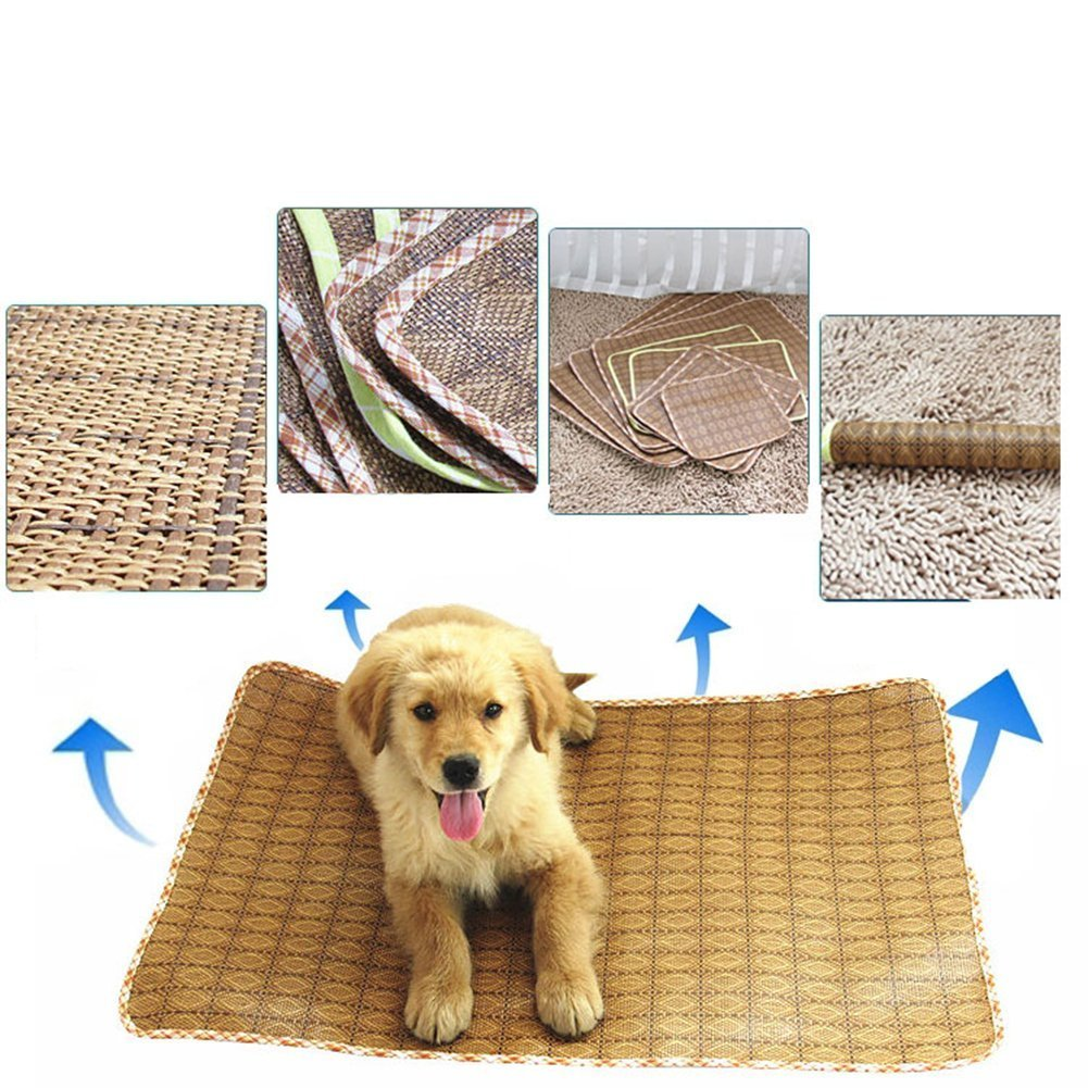 Happy- little -bear Pet Summer Cooling Bed Sleeping Mat Pet Estate Traspirante Comodo Pieghevole Sleeping Pad Pad Cuscino per Cane Puppy   Cat Kitten (90  70cm)