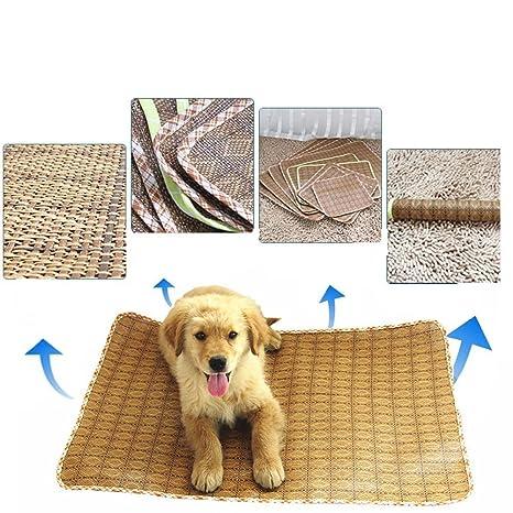 Whyyudan Cama de Verano de Refrigeración para Dormir colchoneta de Verano para Mascotas Transpirable Cómoda de