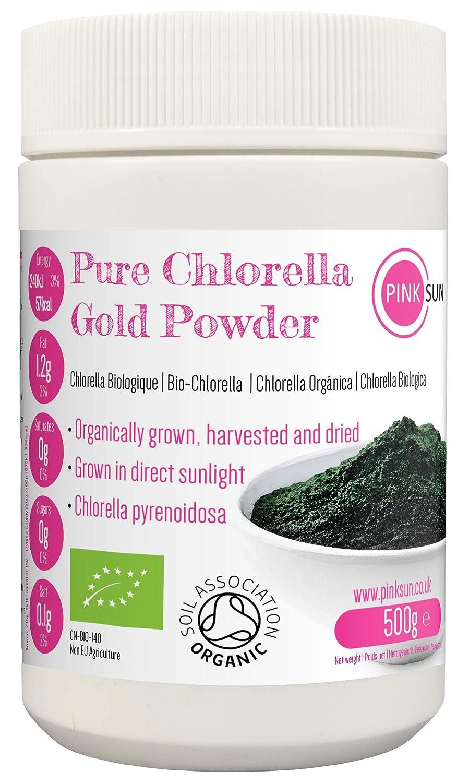 PINK SUN Chlorella Ecológica en Polvo 500g Orgánica Pyrenoidosa ...