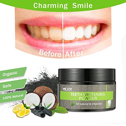Review Charcoal Teeth Whitening Powder,