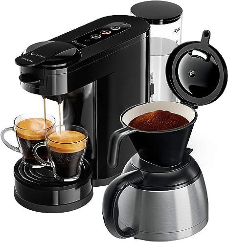 Senseo HD6592/60 - Cafetera (Independiente, Máquina de café en cápsulas, 1 L, De café molido, 1450 W, Negro): Amazon.es: Hogar