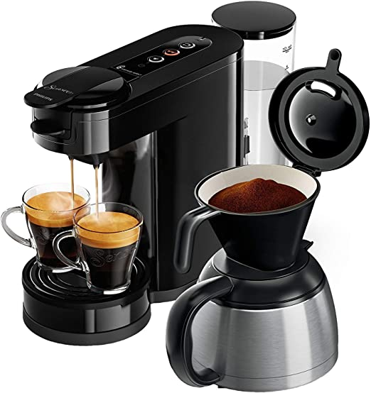 Senseo HD6592/60 - Cafetera (Independiente, Máquina de café en cápsulas, 1 L, De café molido, 1450 W, Negro)