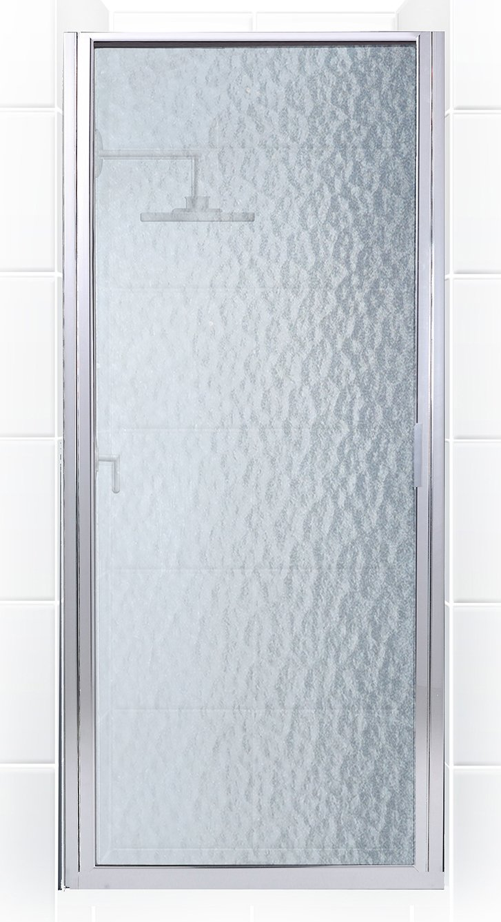 Coastal Shower Doors P35.75B-A Paragon Series Framed Continuous Hinge Shower Door with Aquatex Glass 35 x 74 Chrome