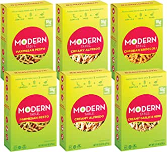 Modern Table Gluten Free, Complete Protein Lentil Pasta Meal Kit, Variety Pack, 6 Count
