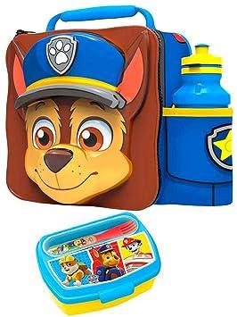 Paw Patrol Chase 3d bolsa para el almuerzo y botella Set con caja de