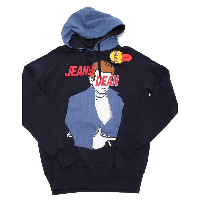 BLOMOR 6604F Felpa Blu Jeans Dean Maglia  Herren Sweatshirt Men